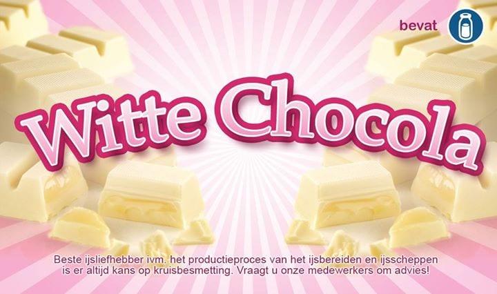 Wij hebben nog steeds witte chocola op = op. Dinsdag weer nieuwe smaak van de da